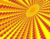 Le soleil jaune. Images libres de droits