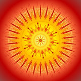 Le soleil jaune, illustration de vecteur Photos libres de droits