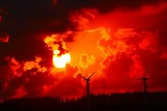Le soleil jaune-orange Photo stock