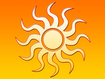 Le soleil lumineux illustration stock