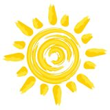 Le soleil lumineux d'été illustration de vecteur