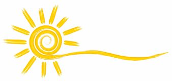 Le soleil lumineux d'?t? illustration libre de droits
