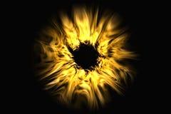 Le soleil lumineux de rayons rendu 3d illustration stock