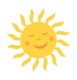 Le soleil mignon avec le sourire illustration libre de droits