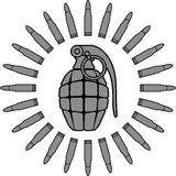 Le soleil militaire Images stock