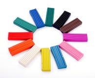 Le soleil multicolore de pâte à modeler Photographie stock libre de droits