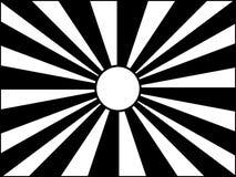 Le soleil noir et blanc Photos libres de droits