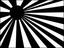 Le soleil noir et blanc Photo stock