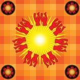 Le soleil païen Photo libre de droits