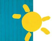 Le soleil peint Image libre de droits