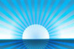 Le soleil polaire Images libres de droits