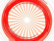 Le soleil rouge Images libres de droits