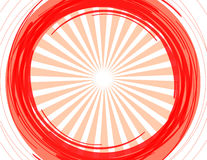Le soleil rouge illustration stock