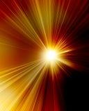 Le soleil rouge brûlant Photo libre de droits