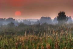 Le soleil rouge de la Russie images libres de droits