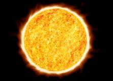 le soleil rougeoyant