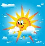 Le soleil roule autour Photo libre de droits