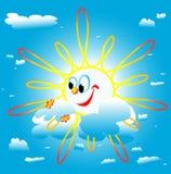 Le soleil roule autour Images stock