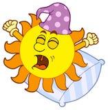 le soleil se réveillant vers le haut Images libres de droits