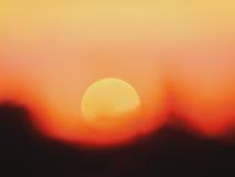 Le soleil sombre Photo libre de droits