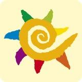 Le soleil spiralé (vecteur) Image stock
