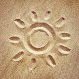 Le soleil stylisé Images libres de droits