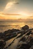 Le soleil timide Image libre de droits