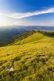Le sommet du bâti Pratomagno (Italie) Photos stock