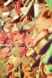 Le sort de coeur ferme à clef l'amour roman Image modifiée la tonalité Photos libres de droits