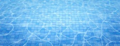 Le sostanze caustiche inferiori della piscina si increspano e scorrono con il fondo delle onde Fondo di estate Struttura della su fotografie stock