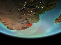 Le Souaziland la nuit sur terre photo stock