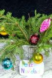 Le souhait du Joyeux Noël dans l'Espagnol Photographie stock