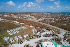Le soulagement américain la Floride de Croix-Rouge verrouille l'ouragan Irma photos stock