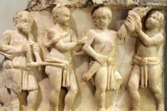 Le soulagement des sarcophages, marbre, 3ème siècle de l'Italie Photos stock