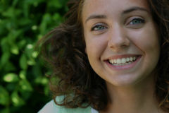 Le sourire d'Amanda photographie stock libre de droits