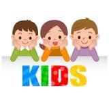 Le sourire d'enfants se couchent illustration de vecteur