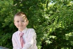 Le sourire de garçon Photo libre de droits