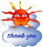 Le sourire de smiley de Sun vous remercient Images stock