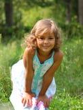 Le sourire normal de l'enfant images libres de droits