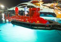 Le sous-marin amarré Images libres de droits