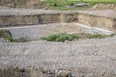 Le sous-sol de construction forme l'excavation Photos stock