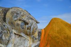 Le sova Buddha Arkivfoto