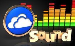 le spectre 3d audio opacifie le symbole Image libre de droits