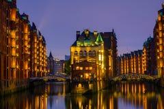 Le Speicherstadt historique, Hambourg Photo libre de droits