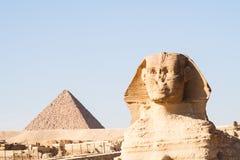 Le sphinx à Gizeh Photo libre de droits