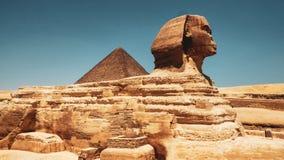 Le sphinx à Gizeh, le Caire image libre de droits