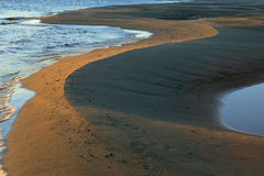 Le spiagge sabbiose Fotografia Stock Libera da Diritti