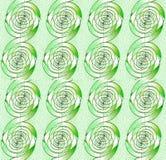 Le spirali senza cuciture regolari modellano verticalmente il bianco beige verde chiaro Immagini Stock Libere da Diritti
