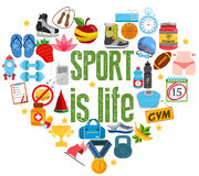 Le sport est la vie photo libre de droits