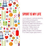 Le sport est mon illustration réglée de la vie Photographie stock libre de droits